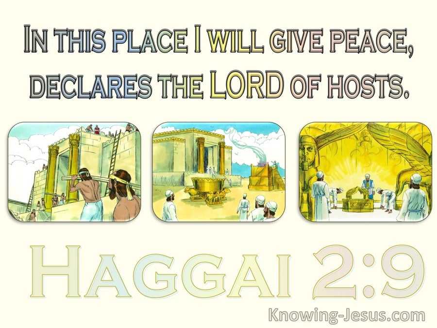 Haggai 2:9 The Glory Of The Latter Temple (yellow)