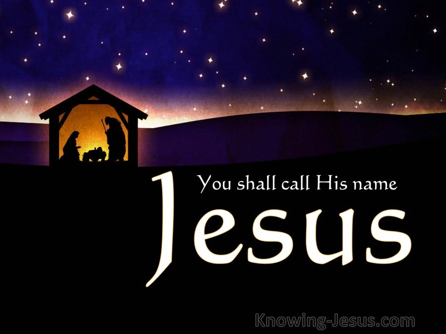 Matthew 1 21 You Shall Call His Name Jesus Black