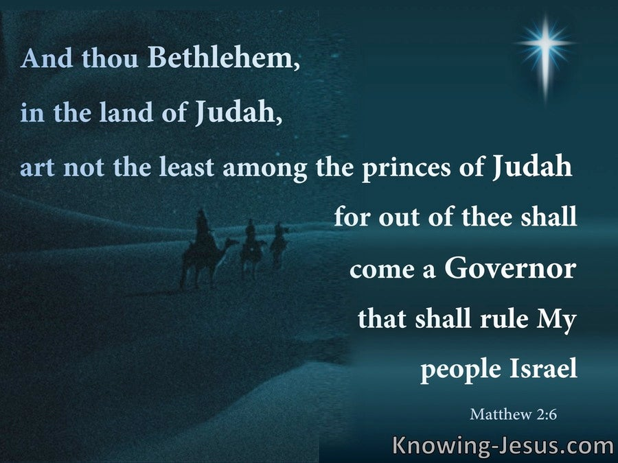 Matthew 2:6 Bethlehem In The Land Of Judah (black)