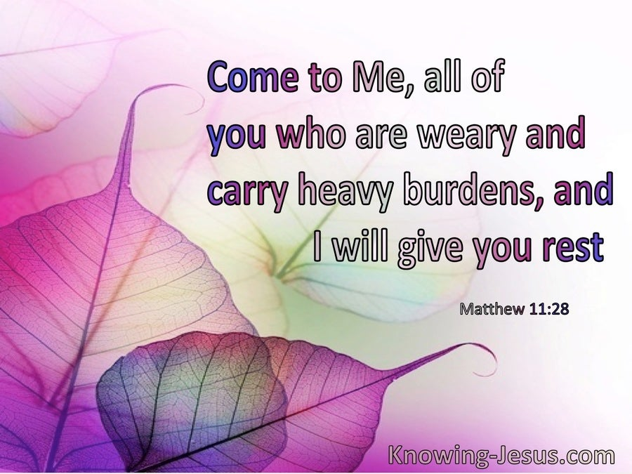 Matthew 11:28 Come To Me All Who Are Weary (windows)01:22