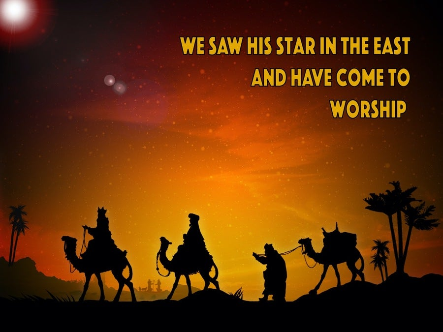 Matthew 2:2 We Saw His Star In The East And Have Come To Worship Him (orange)