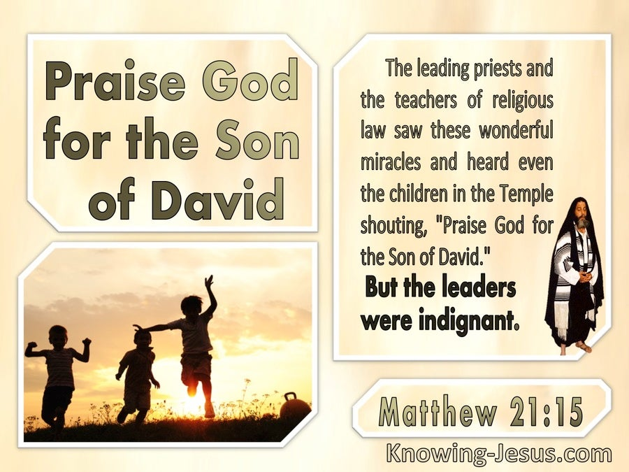 Matthew 21:15 Praise God For The Son Of David (windows)09:08