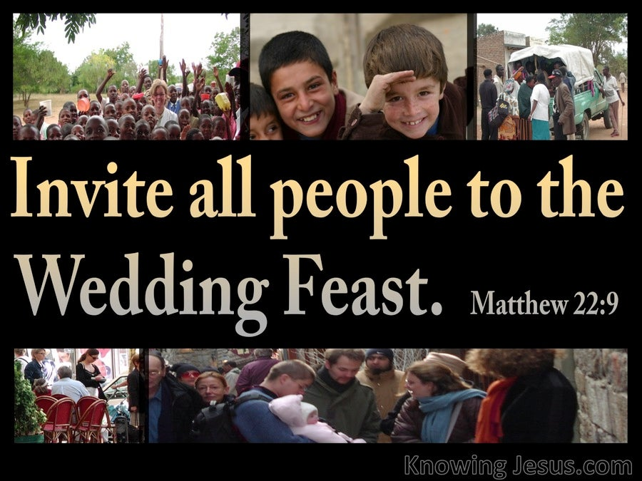 Matthew 22:9 Invitation To The Wedding Feast (gold)