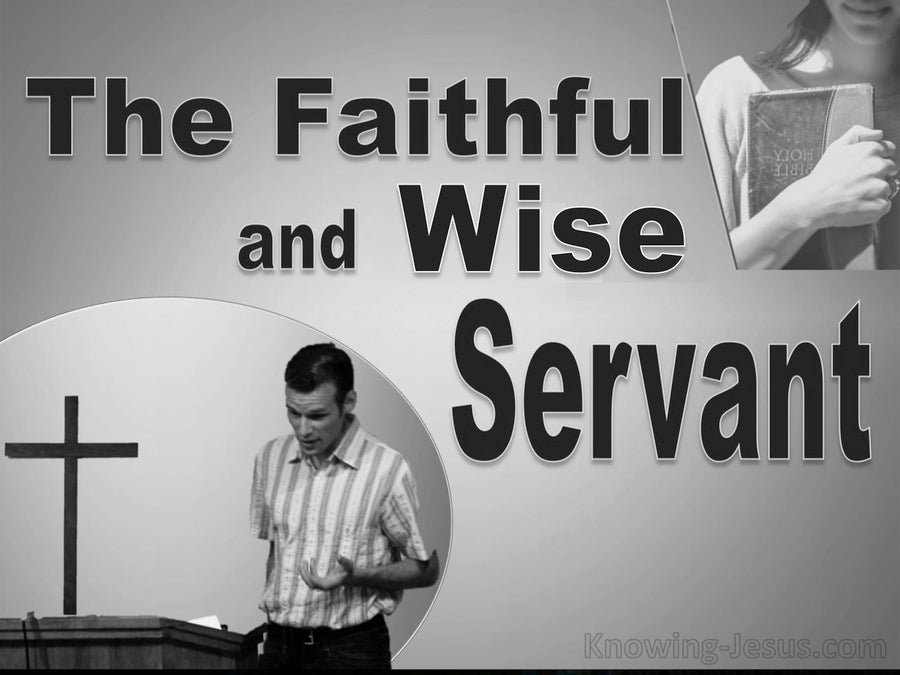 Matthew 24:46 The Faithful and Wise Servant (devotional)10-13 (gray)