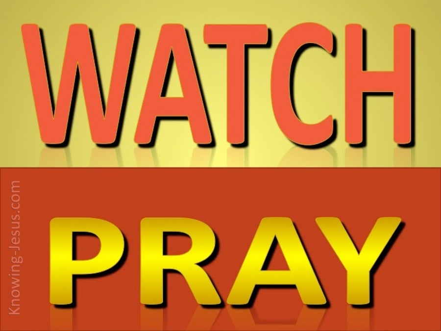 Matthew 26:41 Watch And Pray (red)