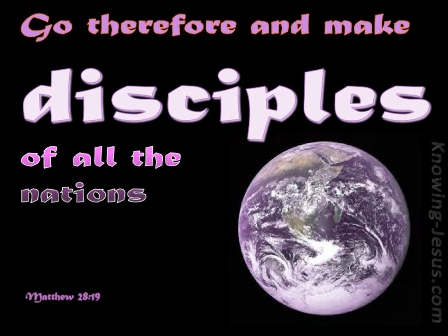 Matthew 28:19 Go And Make Disciples (pink)