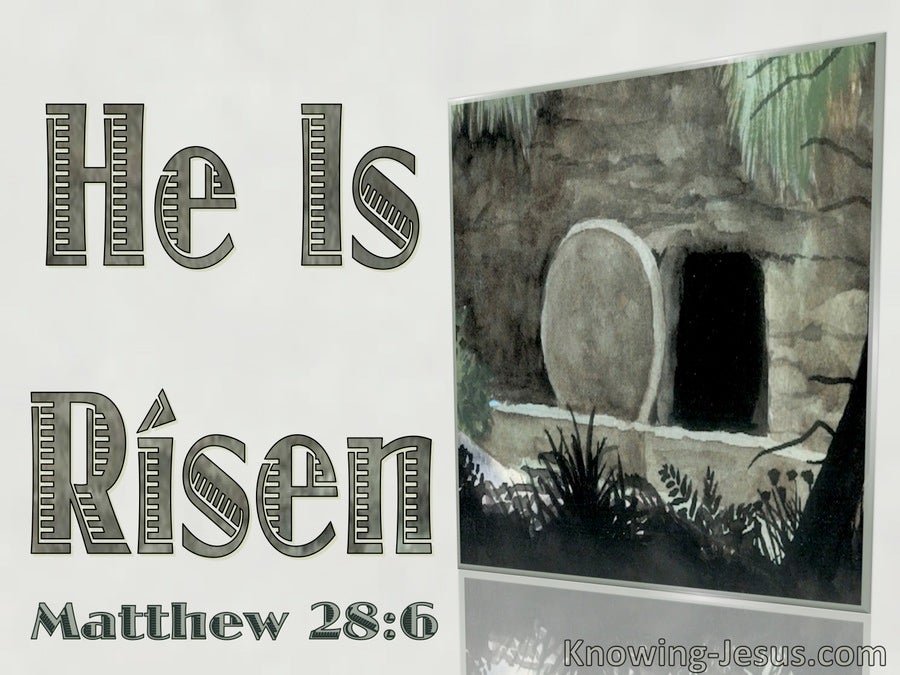 Matthew 28:6 He Is Risen (sage)