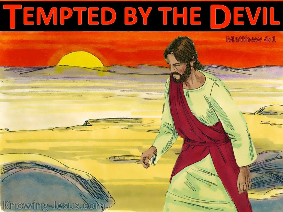 Matthew 4:1 Jesus Was Led Up By The Spirit Into The Wilderness (black)
