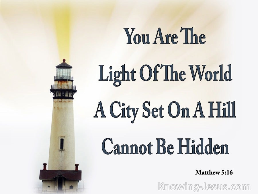 Matthew 5:14 Let Your Light Shine Before Men (white)