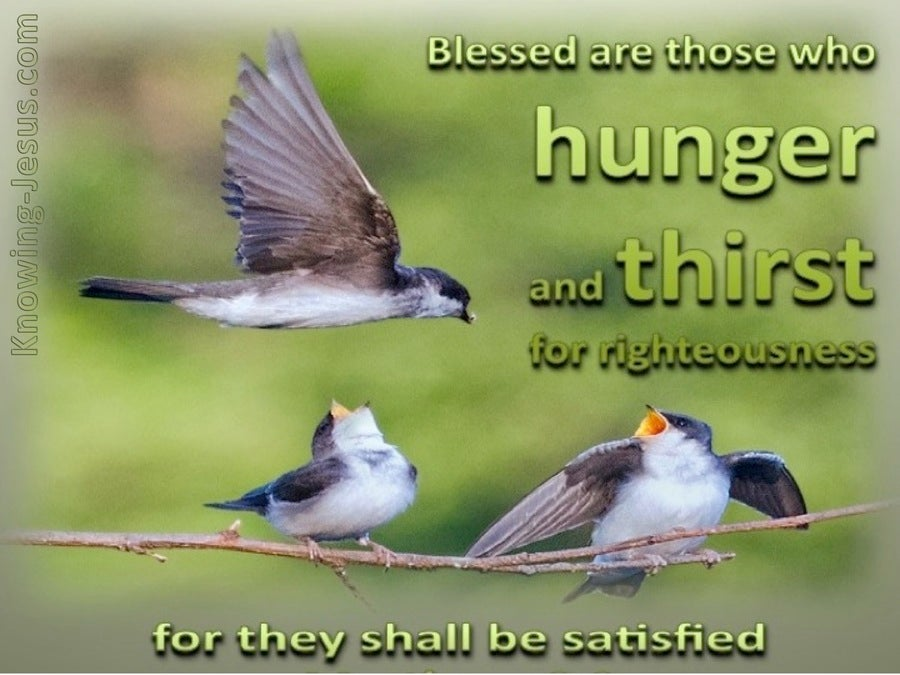 Matthew 5:6 Hunger And Thirst For Righteousness Sake (green)