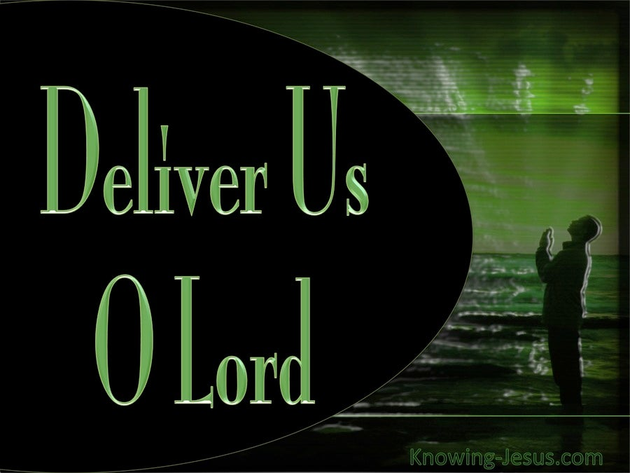 Matthew 6:13 Deliver Us O Lord (black)