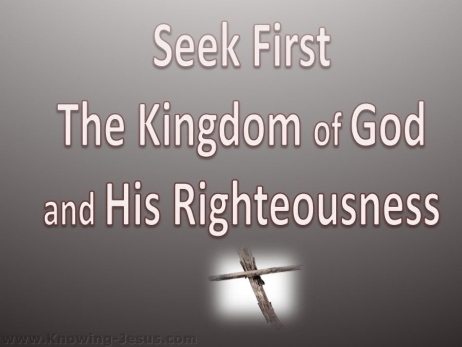 Matthew 6:33 Seek First The Kingdom (white)
