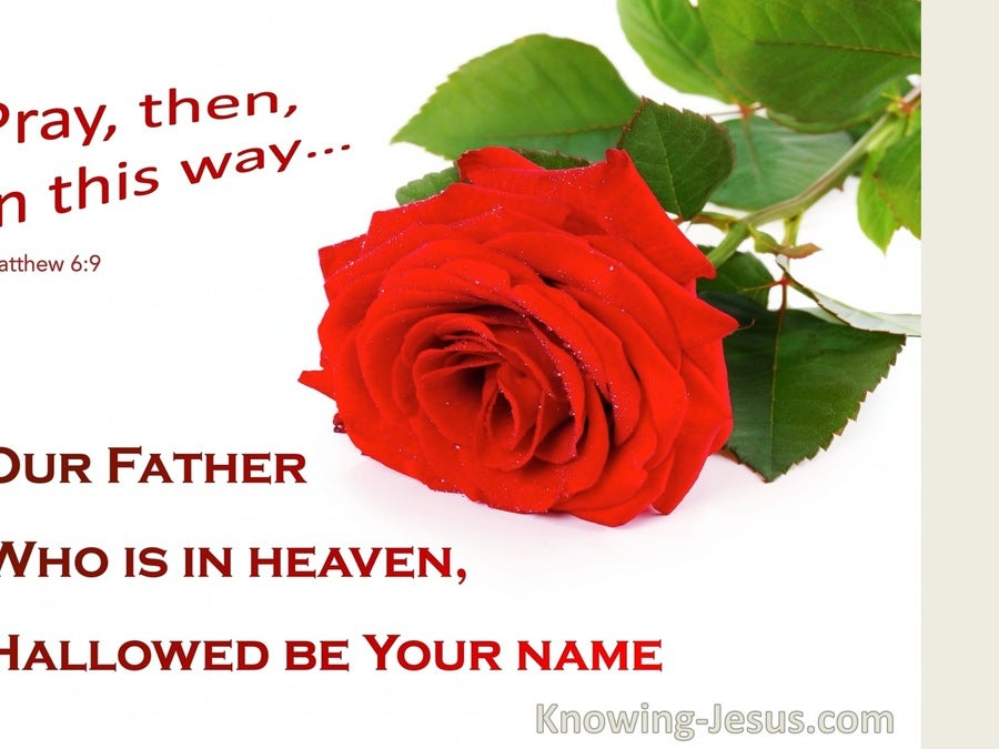 Matthew 6:9 Our Father Who Art In Heaven (red)