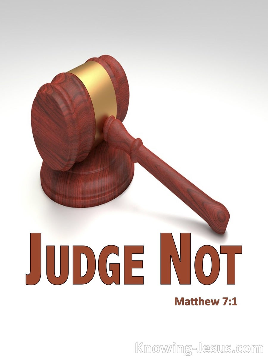 Matthew 7:1 Judge Not That Ye Be Not Judged (gray)