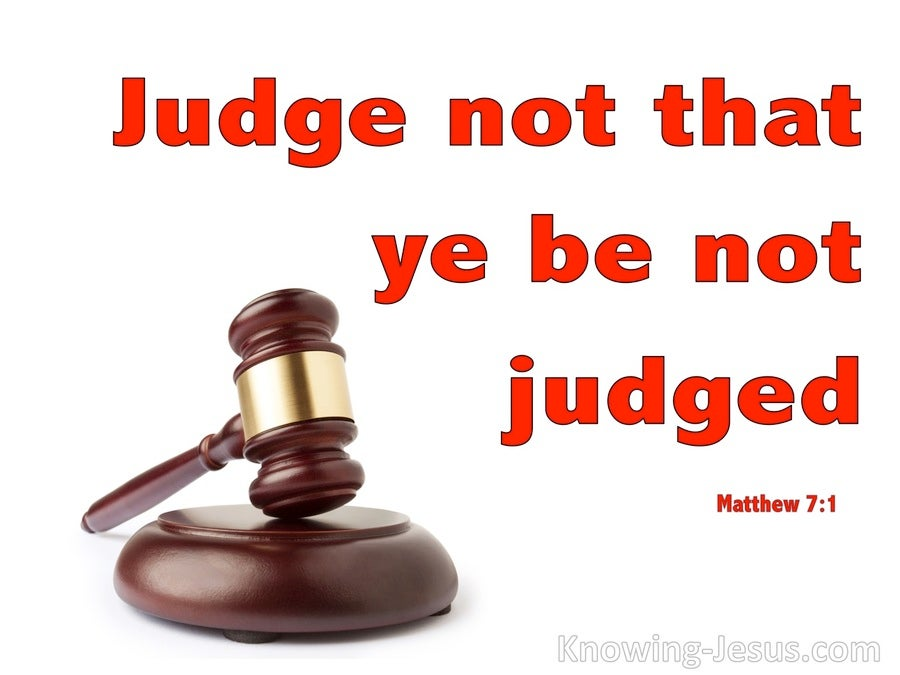 Matthew 7:1 Judge Not That Ye Be Not Judged (red)