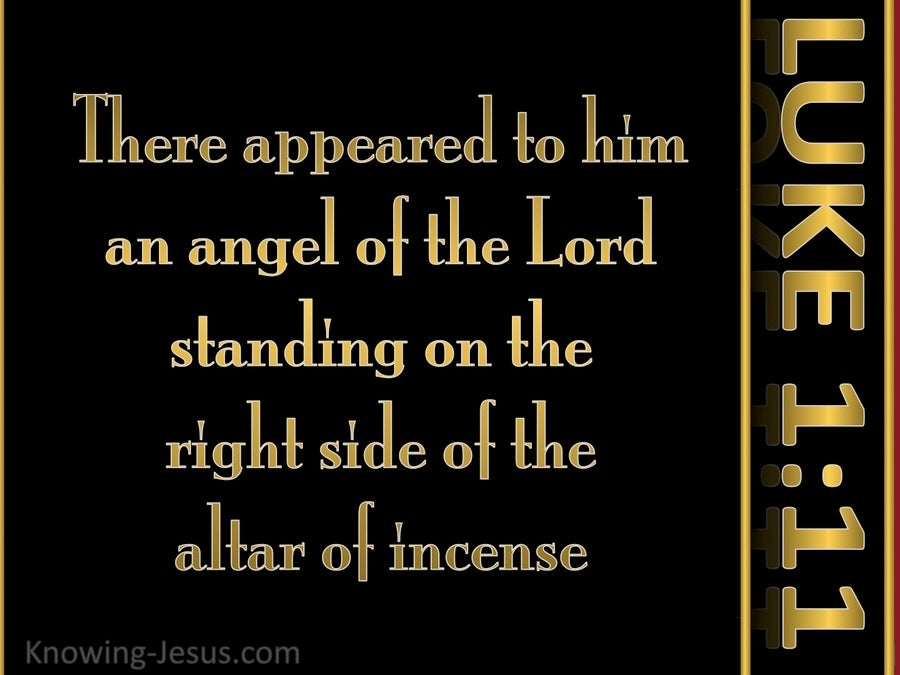 Luke 1:11 There Appeared An Angel (black)