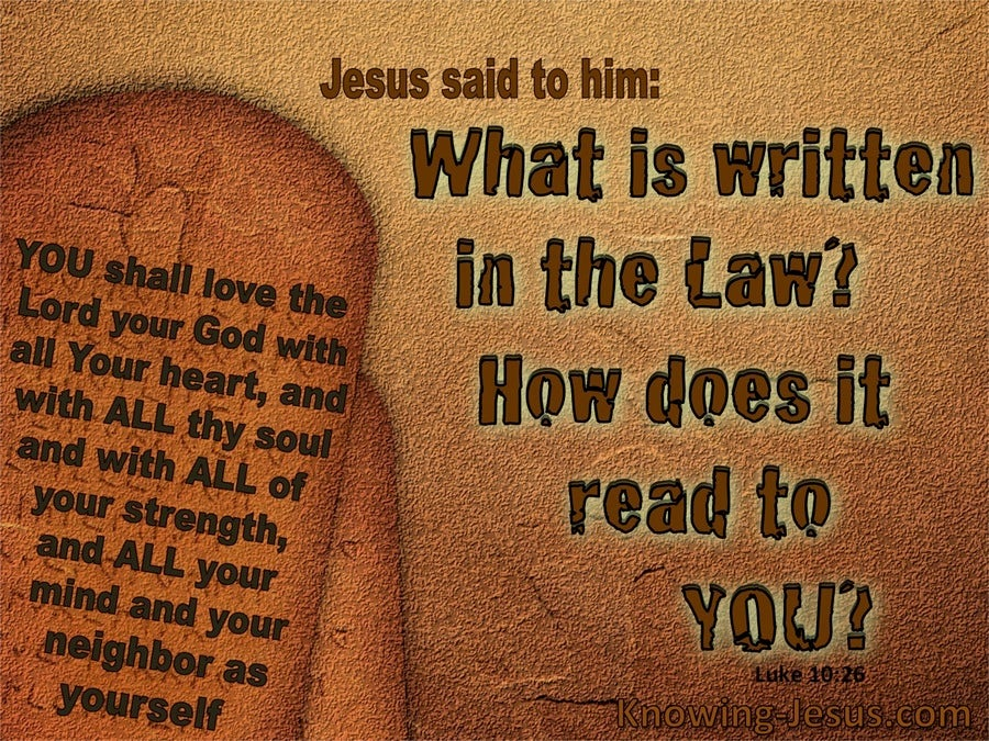 Luke 10:26 What Is Written In The Law (brown)