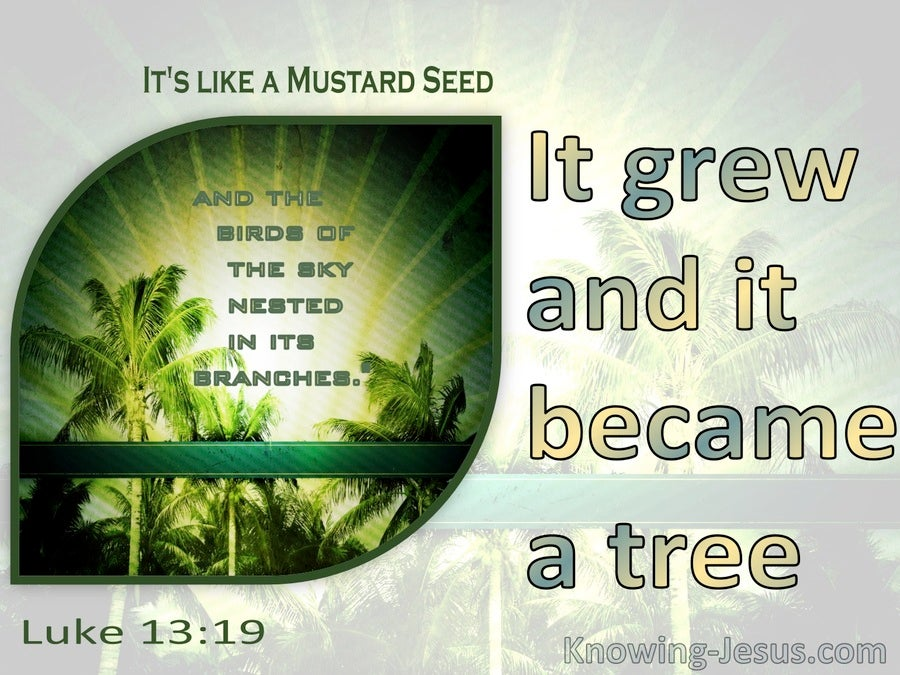 Luke 13:19 It Grew And Became A Tree (yellow)