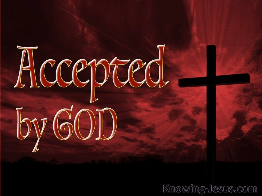 Accepted by God (devotional) (maroon) - Luke 18:14