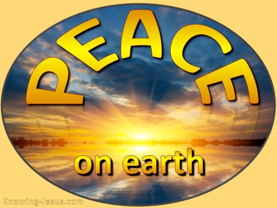 Luke 2:14 Peace On Earth To Men Of Goodwill (yellow)