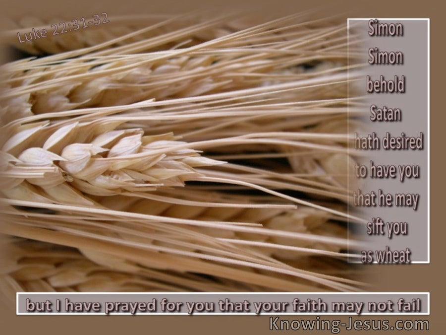 Luke 22:31 Sifted As Wheat (beige)