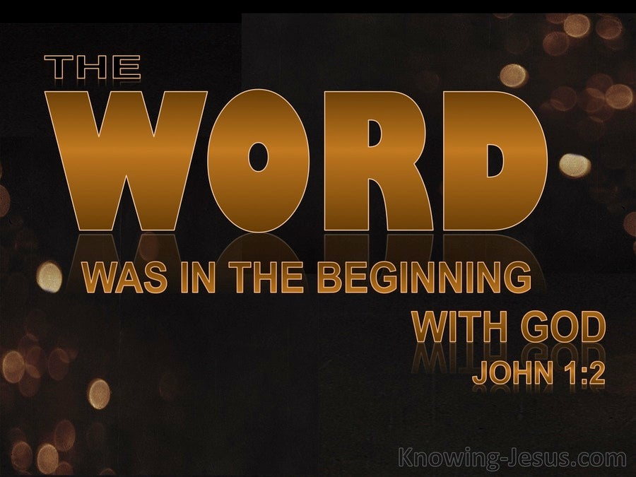 John 1:2 He Was In The Beginning With God tan