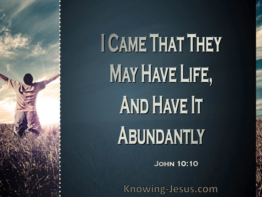 John 10:10 Jesus Came That They Might Have Life (windows)01:23