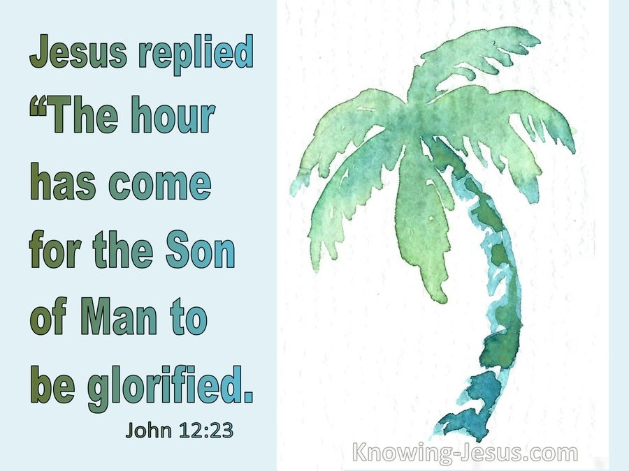 John 12:23 The Hour Has Come (green)