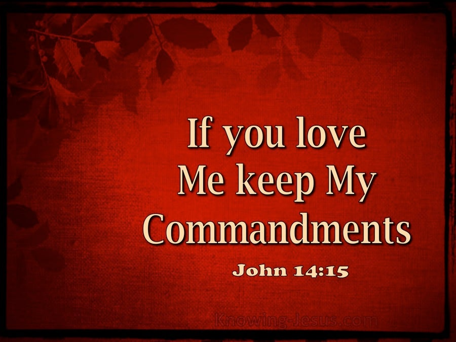 John 14:15 In You Love Me Keep My Commandments (gold)