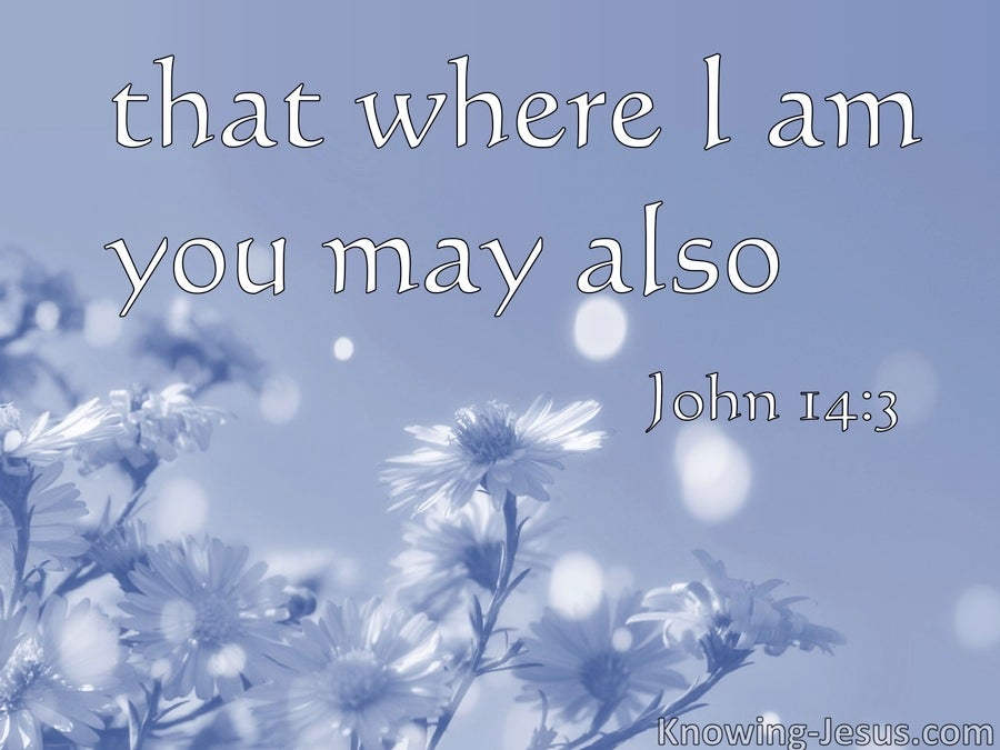 John 14:3 Where I Am Ye May Be Also (blue)