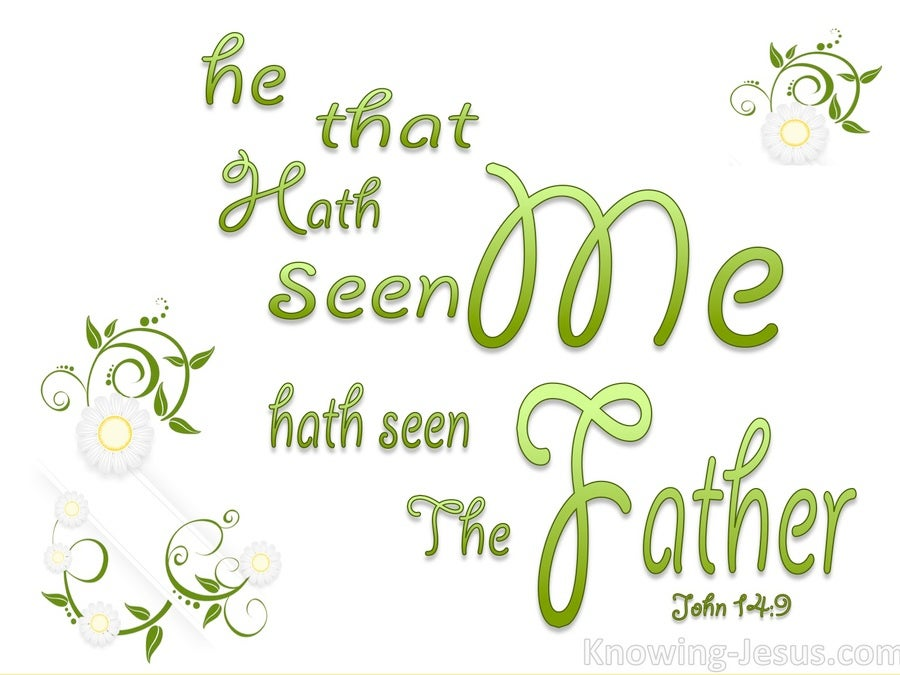 John 14:9 He Who Has Seen Me Has Seen The Father (green)