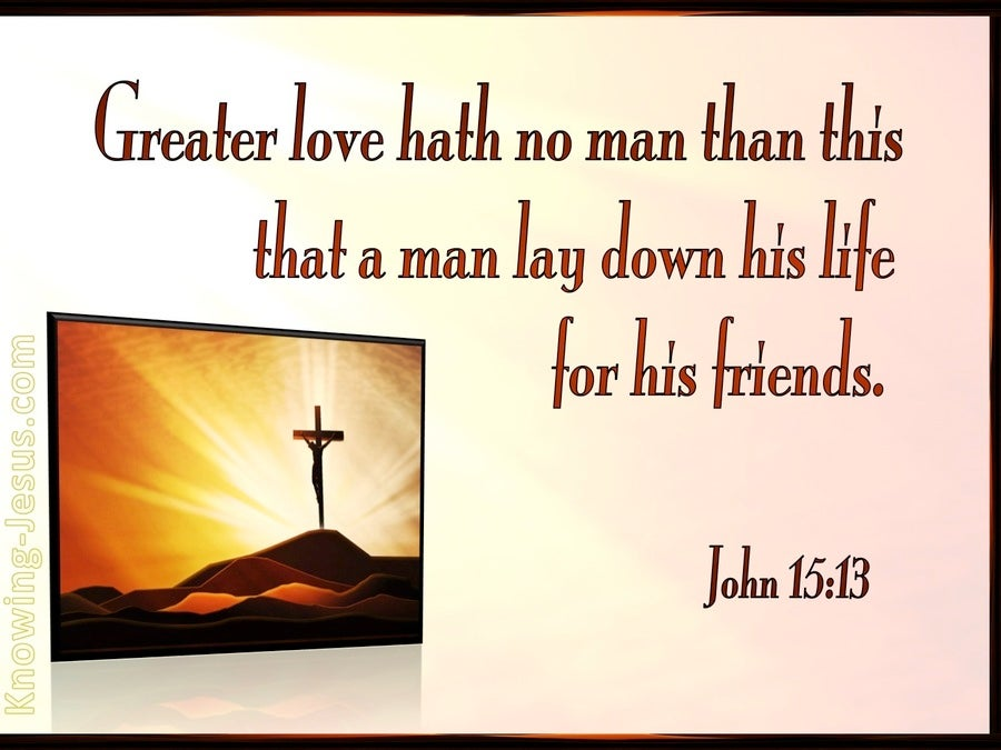 John 15:13 Great Love Has No Man Than This (pink)