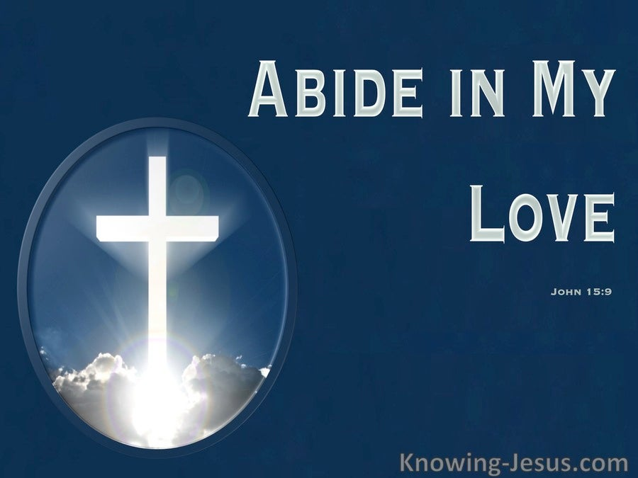 John 15:9 Abide In My Love (blue)