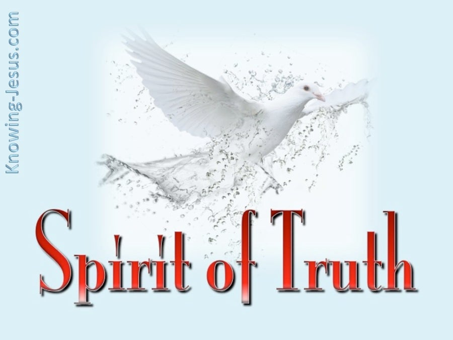 John 16:13 Spirit of Truth (red)