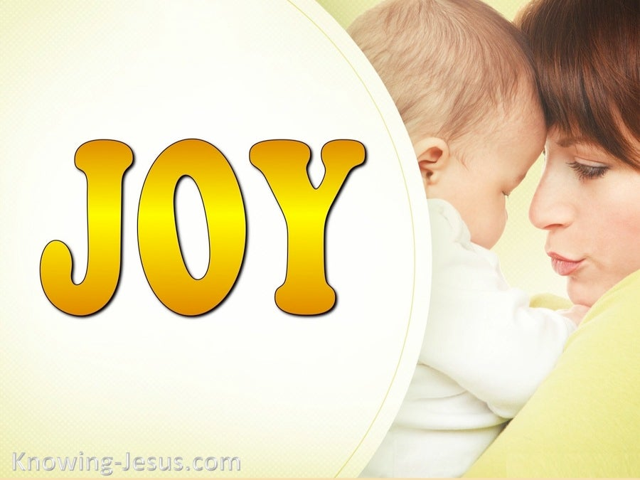 John 16:21 Joy When A Child Is Born (yellow)