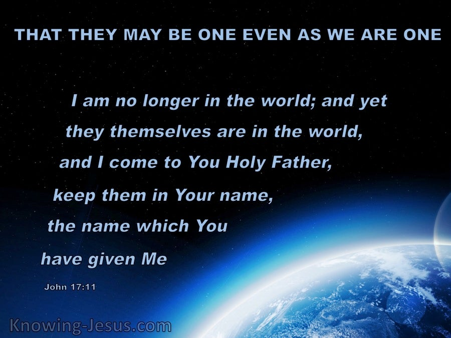 John 17:11 That They May Be One As We Are (blue)