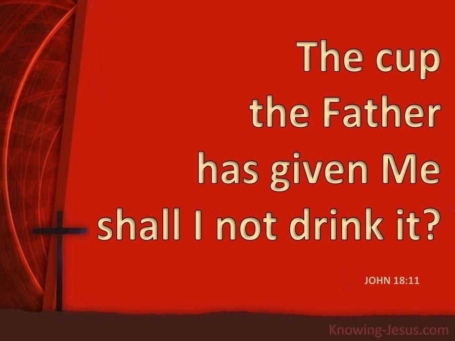 John 18:11 The Cup My Father Has Given Me (red)