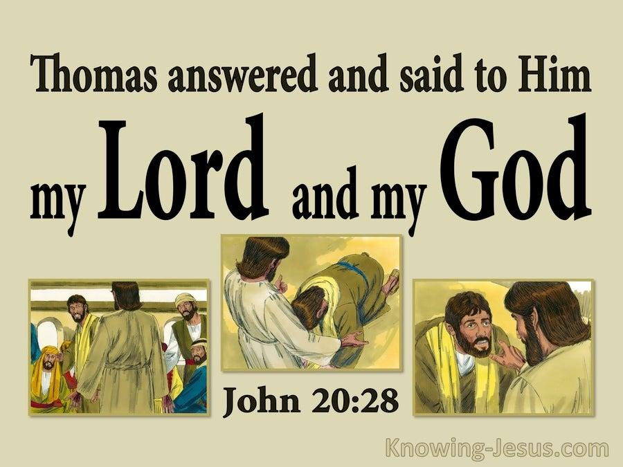 john 2028 thomas said my lord and my god sage