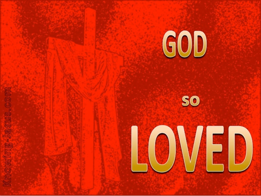 The DEPTH of God's Superlative Love (devotional) (red) - John 3:16