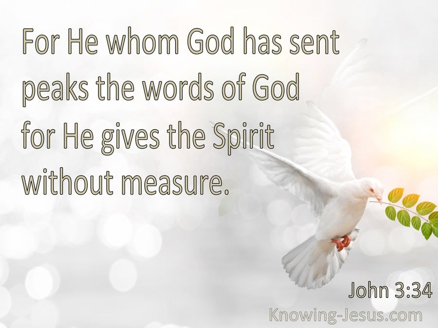 John 3:34 He Gives The Spirit Without Measure (white)