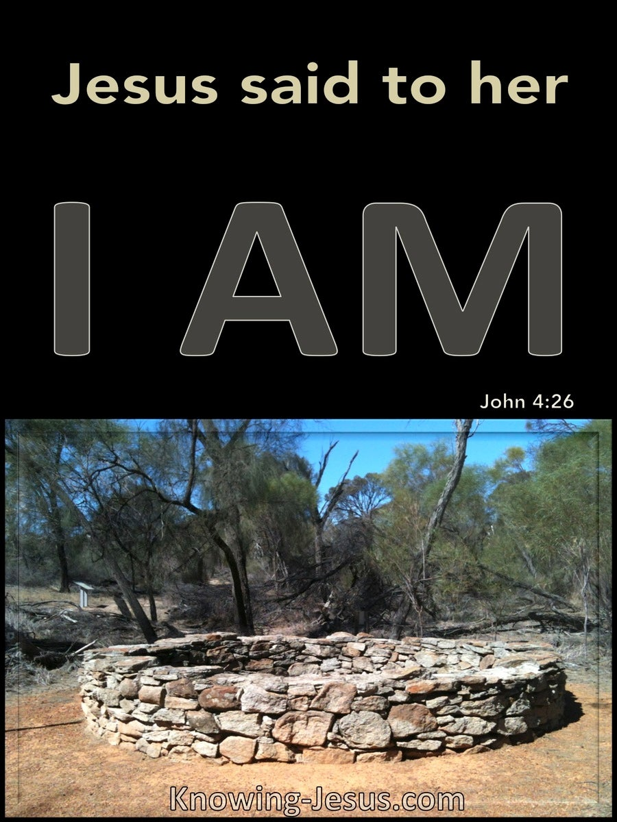 John 4:26 Jesus Said I Am (black)