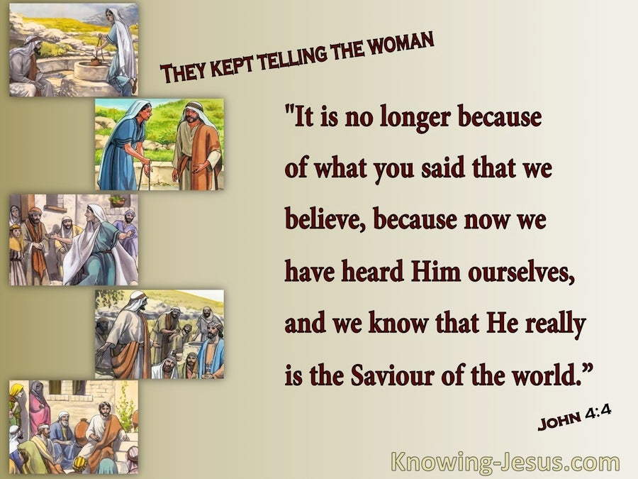 John 4:42 We Know He Is The Saviour (beige)