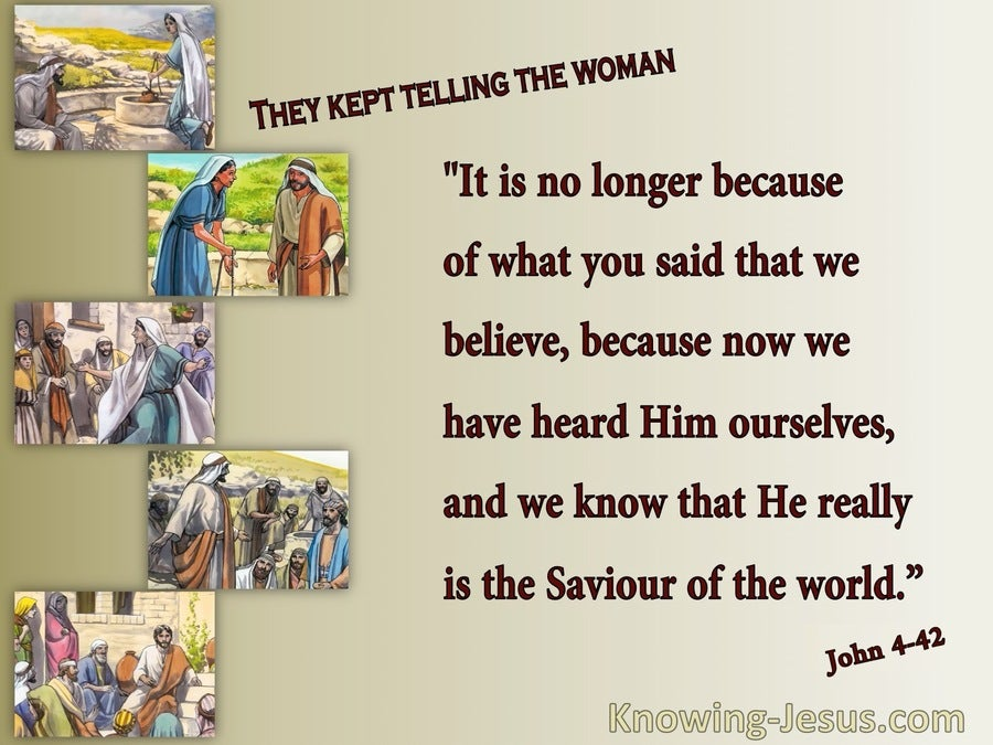John 4:42 We Know He Is The Saviour (maroon)