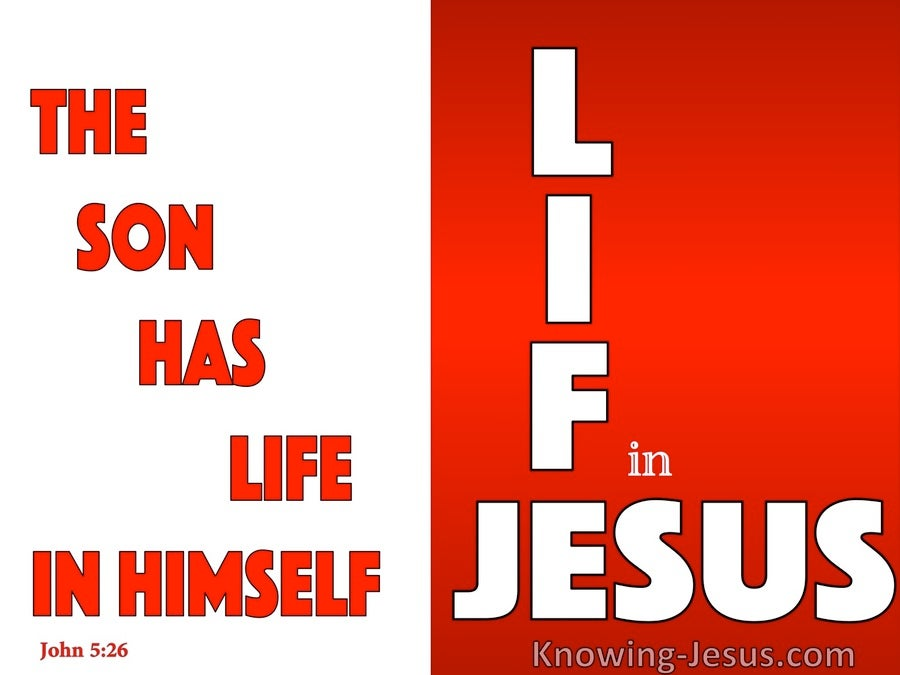 John 5:26 The Son Has Life In Himself (red)