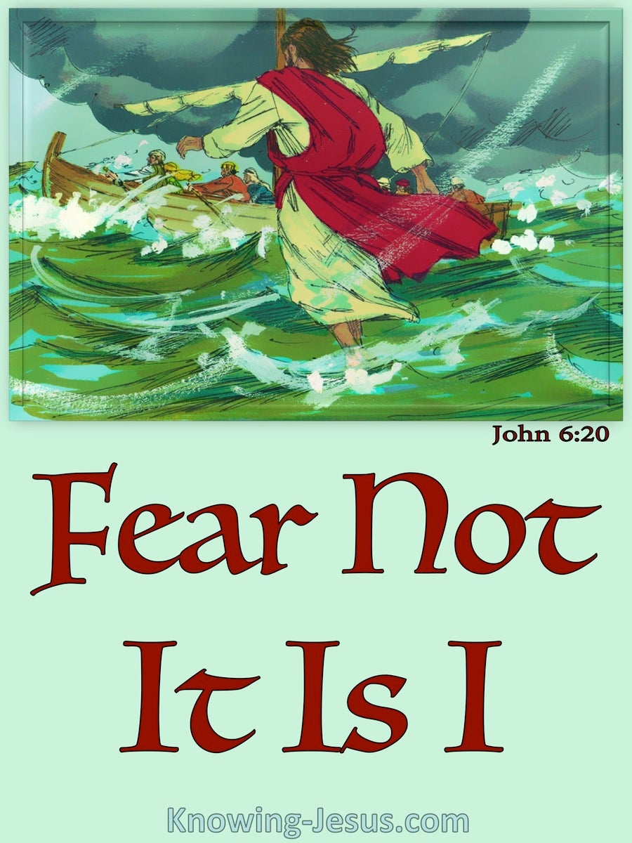 John 6:20 Fear Not It Is I (green)