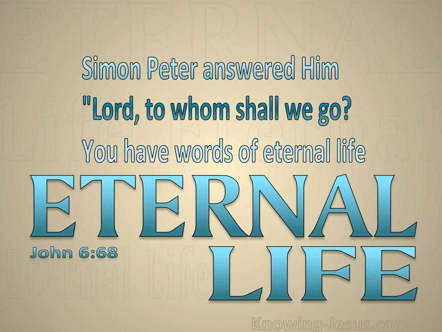 John 6:68 You Have The Words Of Eternal Life (blue)