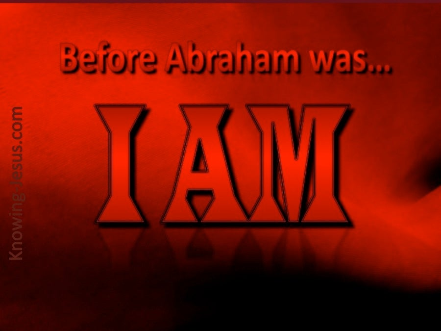 John 8:58 Before Abraham Was (red)