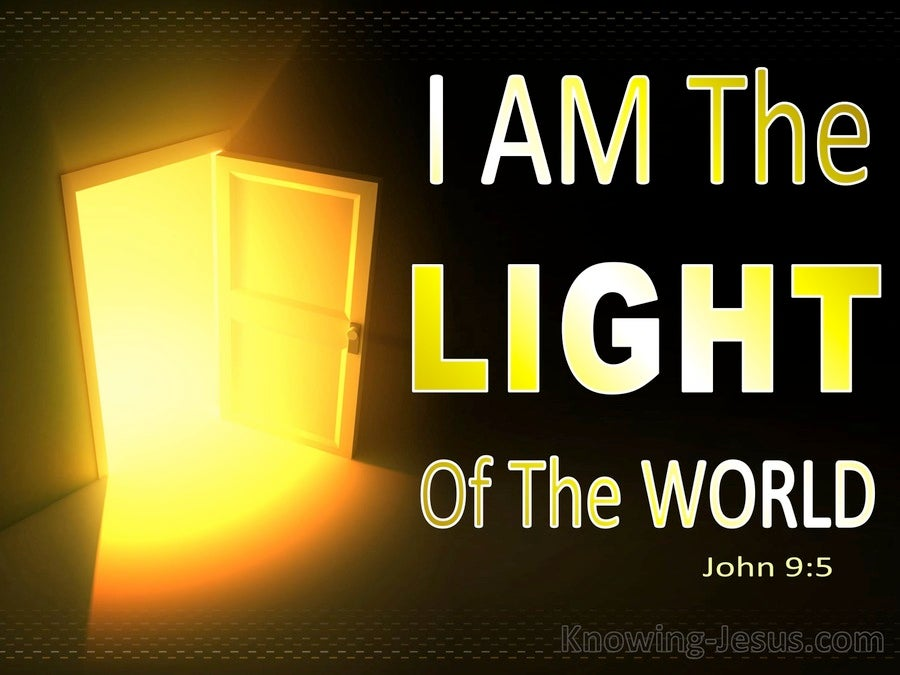 John 9:5 Jesus Is The Light Of The World (yellow)
