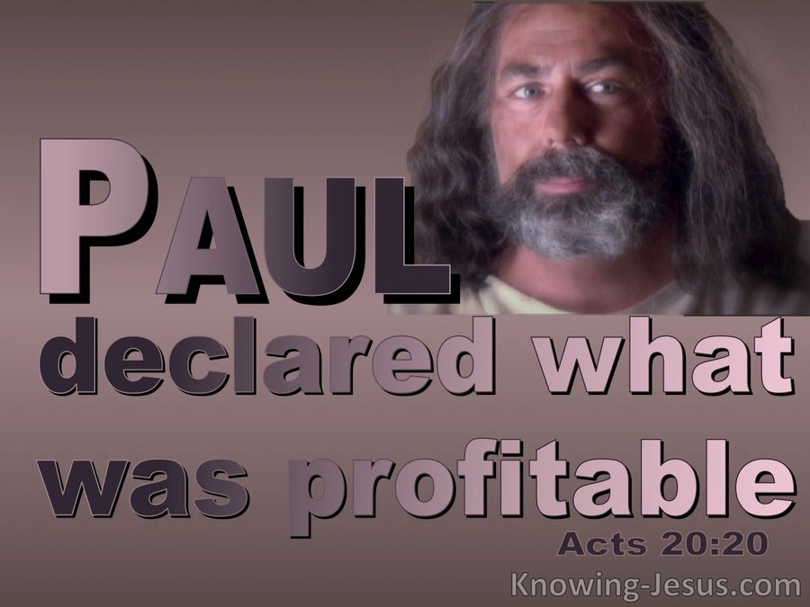 Acts  20-20 Paul Declared What Was Profitable (pink)