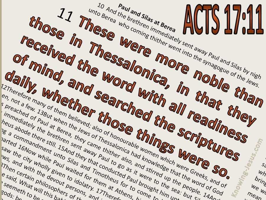 Acts 17:11 They Searched The Scriptures Daily (beige)